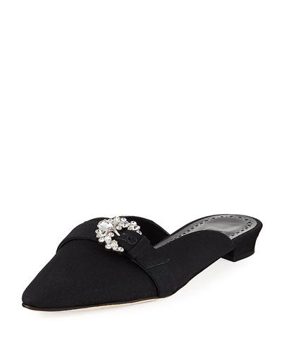 Rubystra Flat Satin Mule Loafer