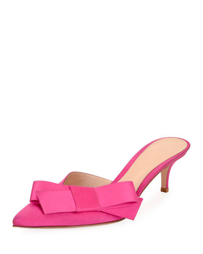 Satin Bow 55mm Slide Mule