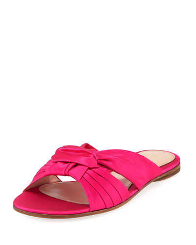 Satin Bow Knot Slide Sandal