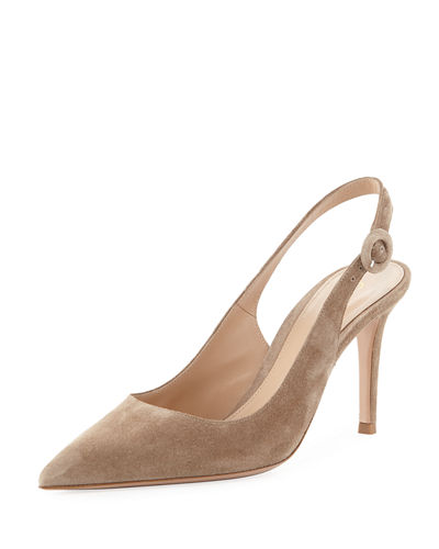 Suede Slingback 85mm Pump
