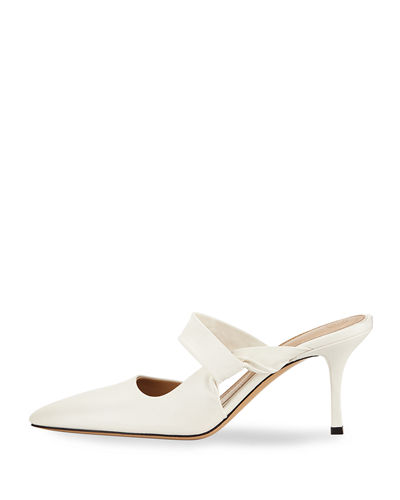 Gala Twist Leather Mule Pump