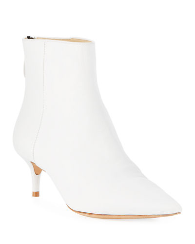 Kitti Point-Toe Leather Bootie