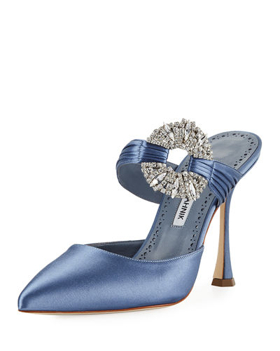 Maidugur Satin Embellished Mule