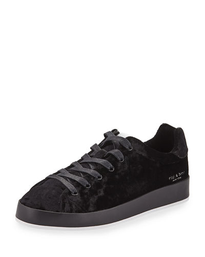 RB1 Low-Top Velvet Low-Top Sneaker