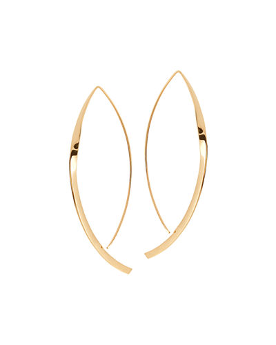 LANA Small 14K Twist Arch Hoop Earrings