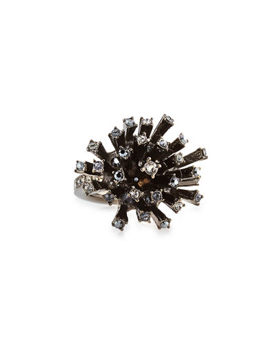 Crystal Firework Cocktail Ring