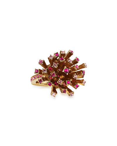 Oscar de la Renta Crystal Firework Cocktail Ring