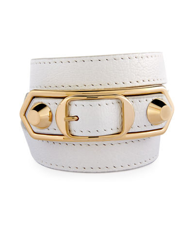 Metallic Edge Wrap Bracelet