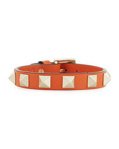 Rockstud Small Leather Bracelet