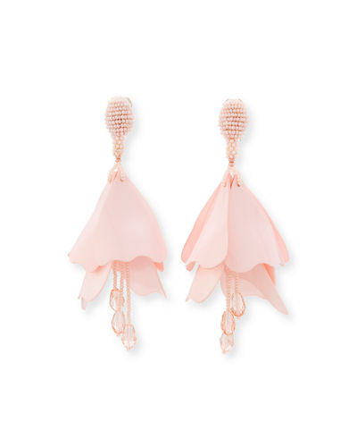 Impatiens Flower Drop Earrings
