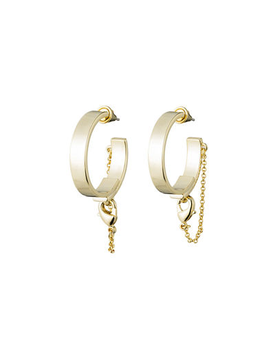 Thin Safety Chain Hoop Earrings
