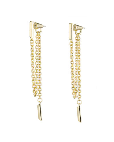 DRAPED CHAIN BAR EARRINGS