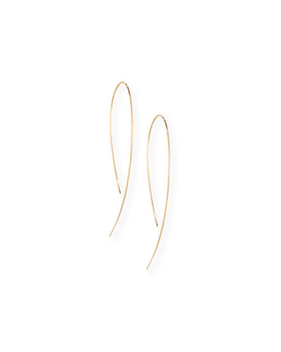 Yellow Gold Hook-On Hoop Earrings