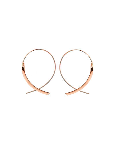 Small 14K Curved Crossover Hoop Earrings