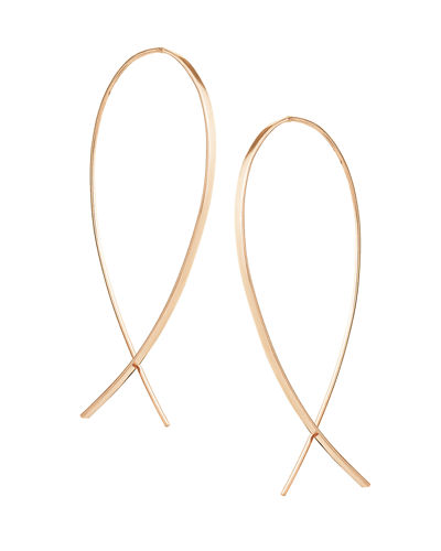 LANA Medium Wide Upside Down Hoop Earrings