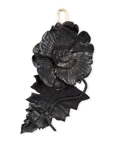 Leather Flower Charm for Handbag