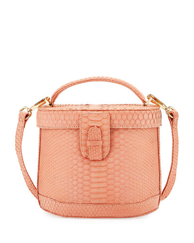 Jenny Python Top-Handle Bag