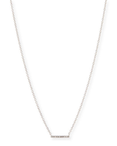 Mini Diamond Bar Pendant Necklace