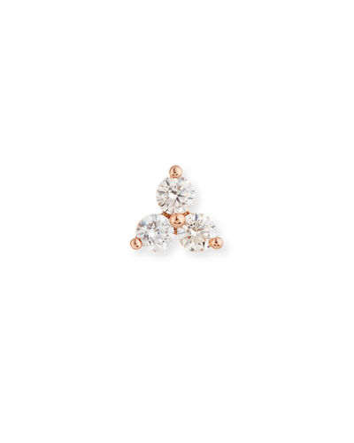Diamond Trio Single Stud Earring