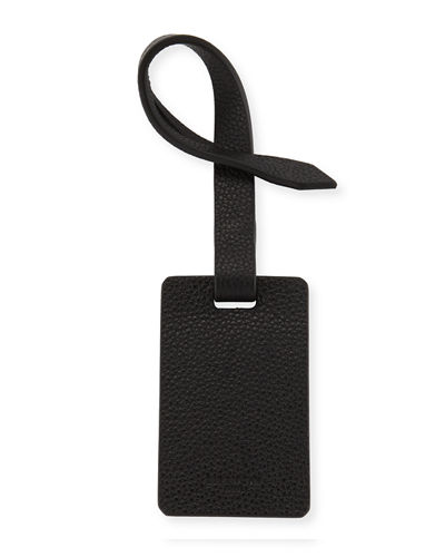 Horizon Grained Leather Luggage Tag