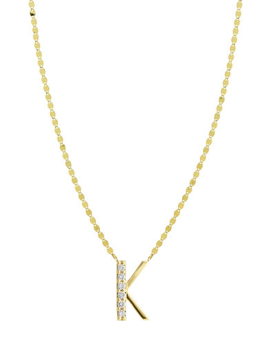 Get Personal Initial Pendant Necklace with Diamonds