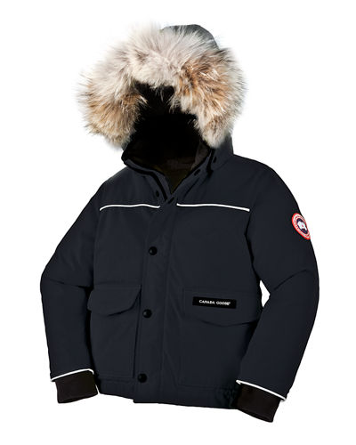 Canada Goose Kids' Hooded Lynx Parka, Black, Size