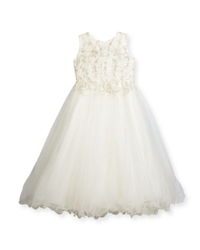 Joan Calabrese Sleeveless Floral Satin & Tulle Special