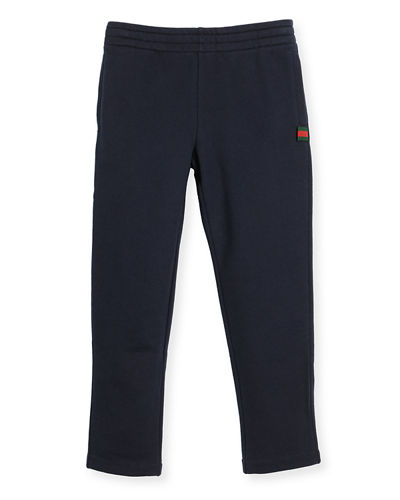 Felted Jersey Track Pants, Size 4-12