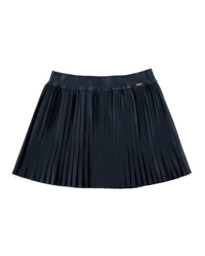 Metallic Accordion-Pleated Skirt, Size 3-7