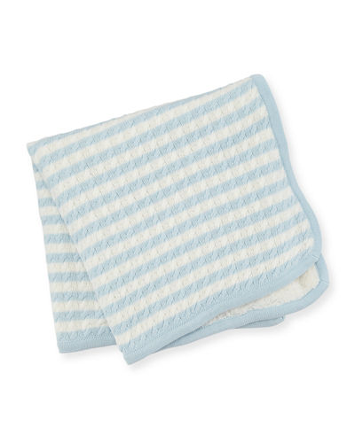 Sherpa Cable Knit Baby Blanket