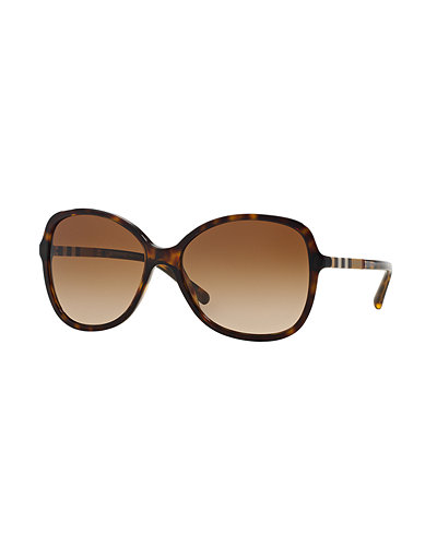 Oversize Check-Temple Square Sunglasses