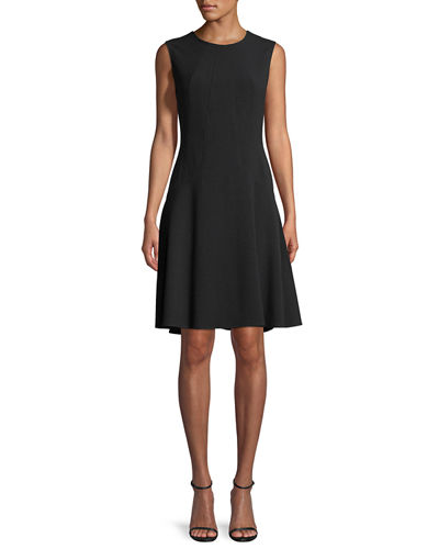 Sophia Seamed Drop Waist Dress