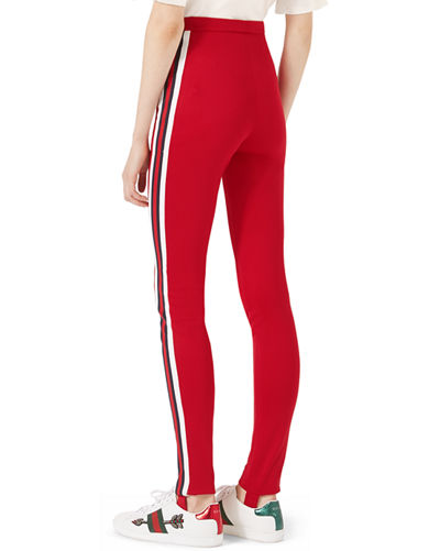 9535b8ced3f Gucci Jersey Stirrup Leggings with Sylvie Web