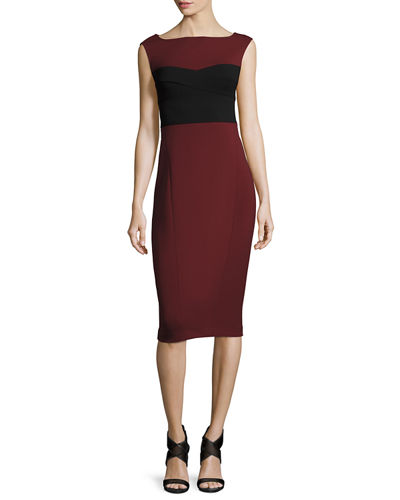 Colorblock Ballet Sheath Dress