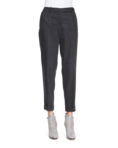Jari Speckled Flannel Cuffed Pants