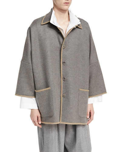 Double-Face Wool-Cashmere Coat
