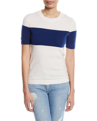 Knit Short-Sleeve Cashmere Top