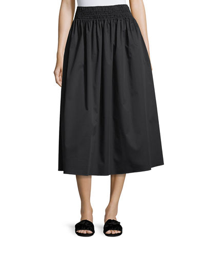 Betsy Full Poplin Long Skirt