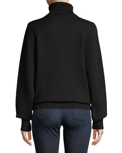 Meredith Turtleneck Wool Sweater