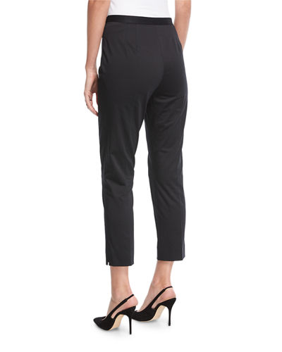 Stretch-Cotton Sateen Pants