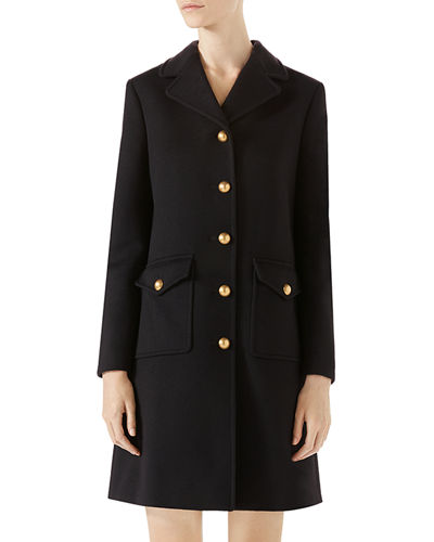 ce1d771120 Wool Coat with Double-G