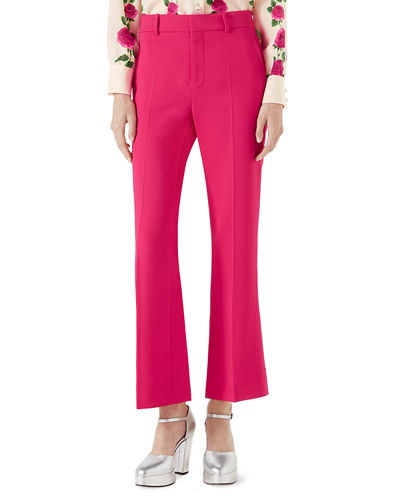 Viscose Ankle-Length Boot-Cut Pants