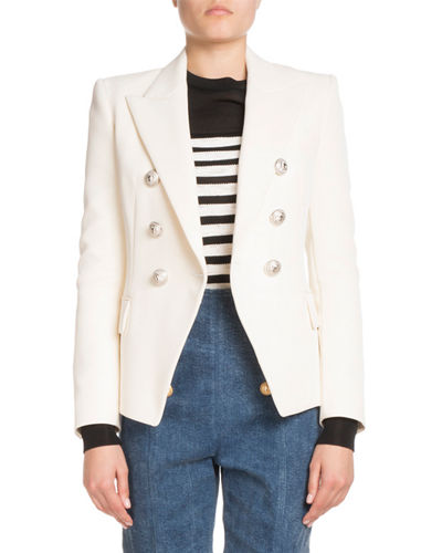 Classic Button-Front Blazer