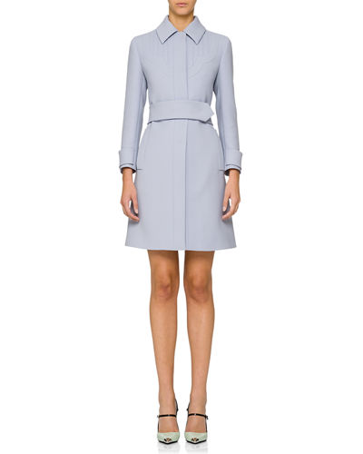 Belted Point-Collar Coat