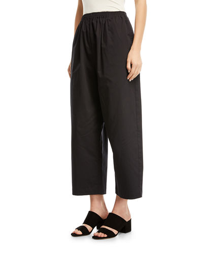 Cropped Stretch-Poplin Japanese Trousers