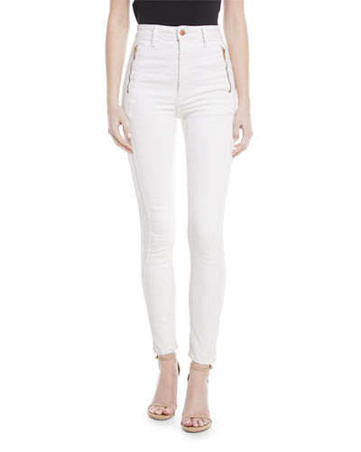 Tori High-Waist Denim Skinny Jeans