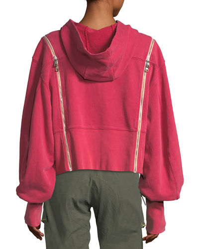 Hoodie Pullover w/Zip-Away Sleeves