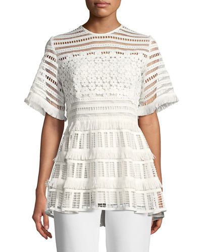 Clearance Fake Free Shipping For Nice Lela Rose Woman Off-the-shoulder Guipure Lace Top White Size 10 Lela Rose For Cheap With Credit Card Cheap Online wD2wNKnjq