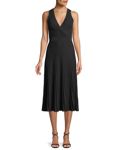 Abito Cala Luna Ribbed Midi Dress