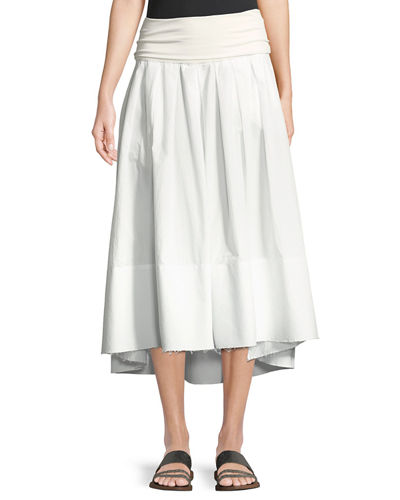 Poplin Safari A-line Skirt